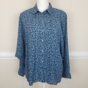 & Other Stories Batwing Pocket Floral Top A0617